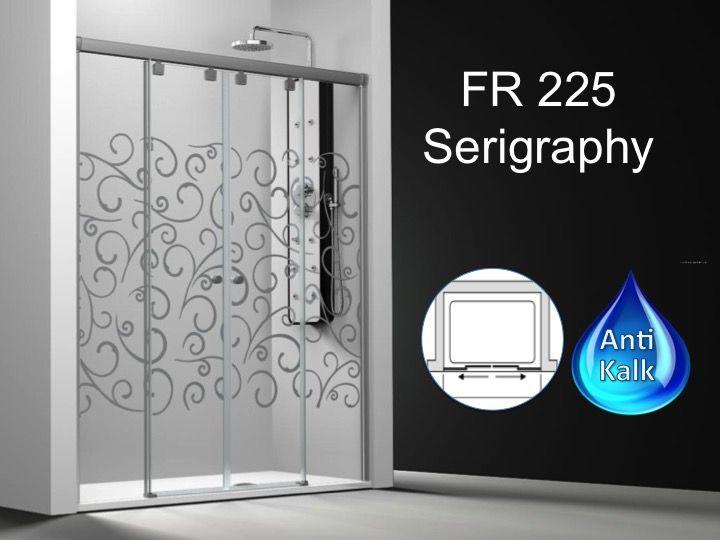 Paroi de douche longueur 140 paroi de douche 4 panneaux 2 portes centrales - Porte de douche 140 cm ...