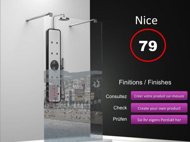 paroi de douche longueur 60 paroi de douche fixe ilot 60 cm hauteur de 180 220 cm bs201. Black Bedroom Furniture Sets. Home Design Ideas