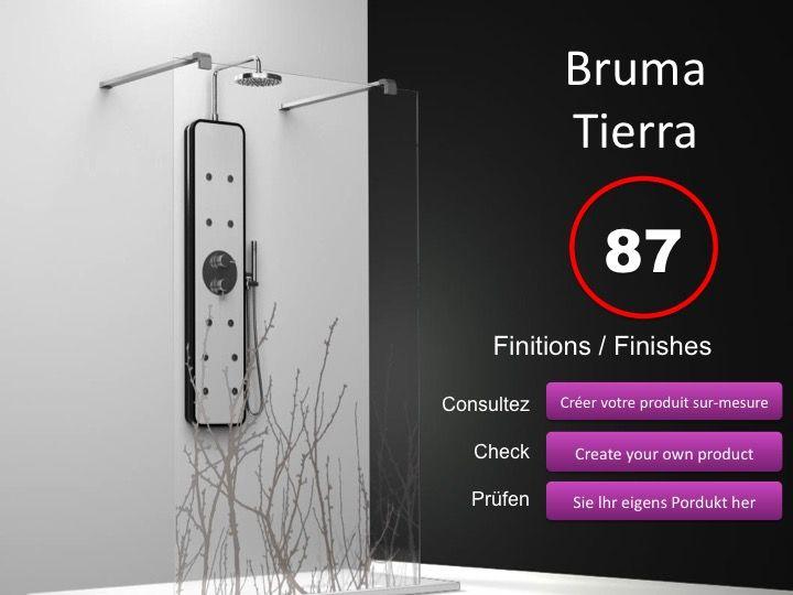 paroi de douche longueur 75 paroi de douche fixe ilot 75. Black Bedroom Furniture Sets. Home Design Ideas