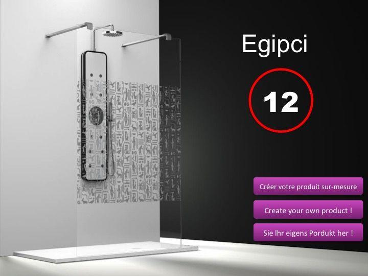 Paroi de douche longueur 140 paroi de douche fixe ilot 140 cm serigraphy h - Paroi de douche fixe 140 cm ...