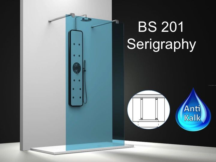 paroi de douche longueur 160 paroi de douche fixe ilot 160 cm serigraphy hauteur de 180 220. Black Bedroom Furniture Sets. Home Design Ideas