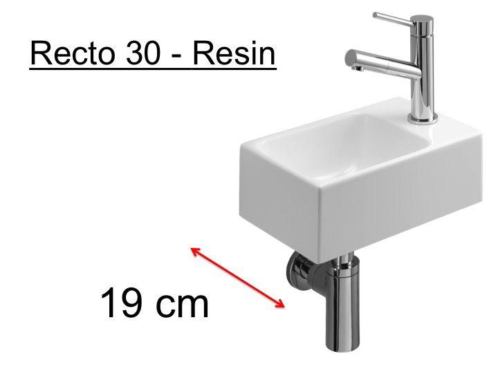 meubles lave mains robinetteries lave mains lave mains wc en r sine profondeur 19 cm. Black Bedroom Furniture Sets. Home Design Ideas