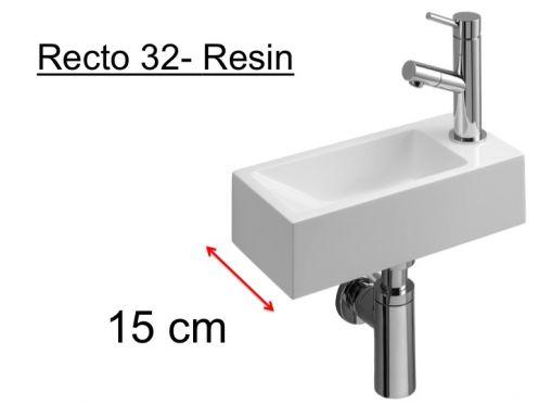 meubles lave mains robinetteries lave mains lave mains wc en r sine profondeur 15 cm. Black Bedroom Furniture Sets. Home Design Ideas