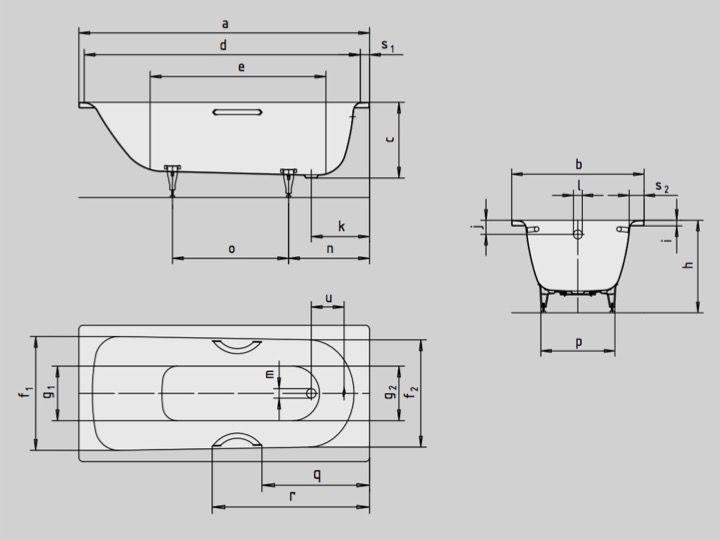 meubles lave mains robinetteries baignoires baignoire 175 x 75 cm en acier maill kaldewei. Black Bedroom Furniture Sets. Home Design Ideas
