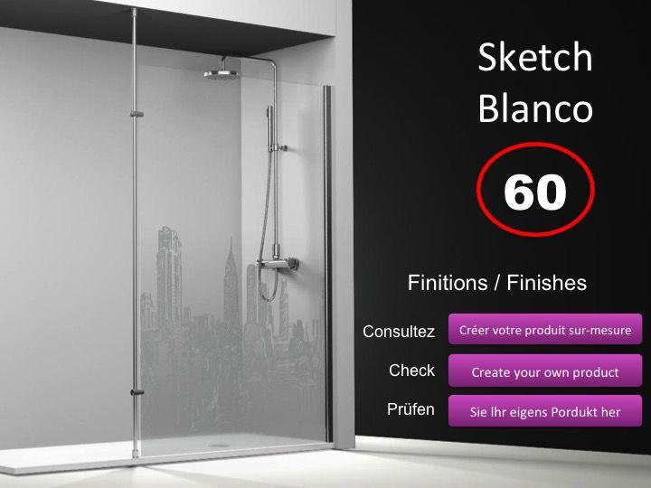 paroi de douche longueur 60 paroi de douche fixe 60 cm avec barre stabilisatrice du sol au. Black Bedroom Furniture Sets. Home Design Ideas