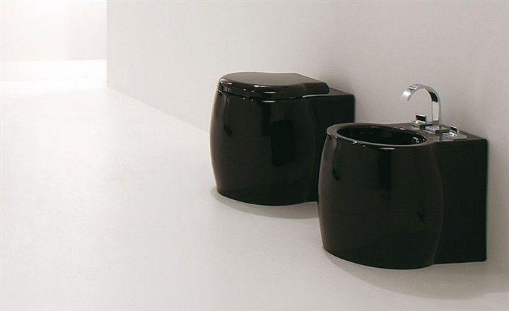 Meubles lave mains robinetteries wc cuvette design cuvette wc design dunia noir - Cuvette wc design ...