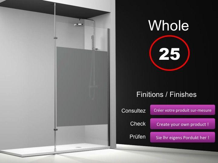 paroi de douche longueur 80 paroi de douche fixe 80 cm avec barre stabilisatrice du sol au. Black Bedroom Furniture Sets. Home Design Ideas
