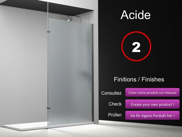 paroi de douche longueur 125 paroi de douche fixe 125 cm avec barre stabilisatrice du sol au. Black Bedroom Furniture Sets. Home Design Ideas