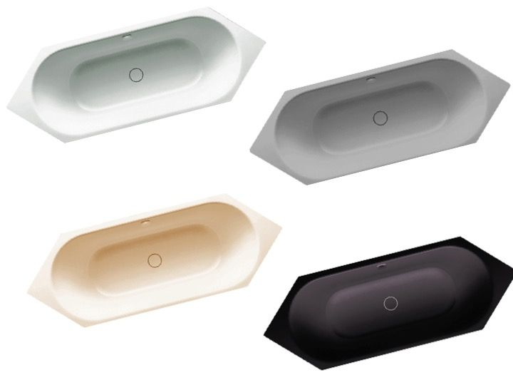 Radiateur s che serviettes baignoires baignoire 200 x 75 cm en acier maill kaldewei - Baignoire acier emaille ...