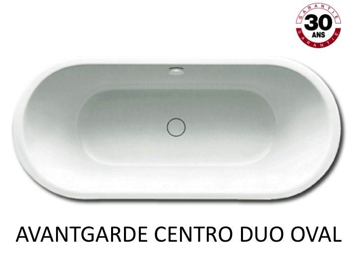Baignoire 170 x 75 cm en acier maill kaldewei avantgarde centro duo oval - Email de baignoire abime ...