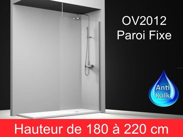 paroi de douche longueur 80 paroi de douche fixe 80 cm avec barre stabilisatrice au plafond. Black Bedroom Furniture Sets. Home Design Ideas