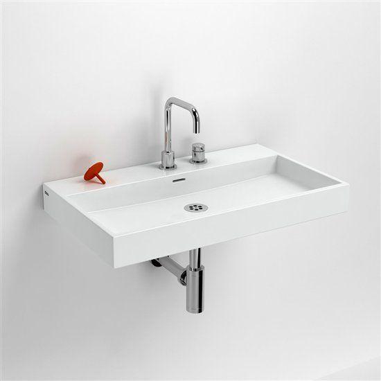 Vasques accessoires lavabo 70 cm washme c ramique blanc - Lavabo ceramique blanc ...