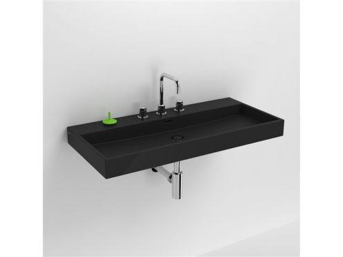 Vasques lavabo et vasque lavabo 90 cm washme c ramique for Largeur lavabo standard