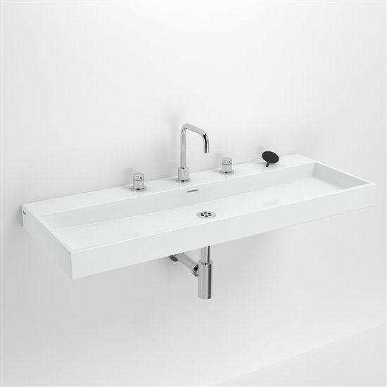 Meubles lave mains robinetteries lavabo et vasque for Meuble blanc 110 cm