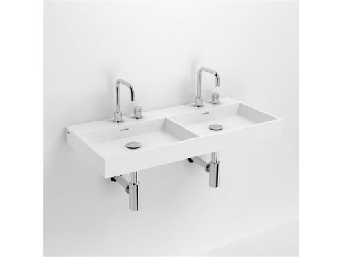 meubles lave mains robinetteries corian type lavabo double 90 cm washme r sine min ral blanc. Black Bedroom Furniture Sets. Home Design Ideas
