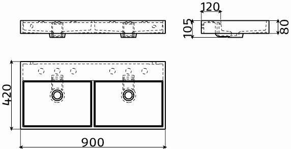 meubles lave mains robinetteries corian type lavabo double 90 cm washme r sine min ral blanc. Black Bedroom Furniture Sets. Home Design Ideas