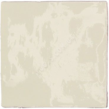 ANTIC MEDIUM WHITE Brillo craquelé 13X13 cm, carrelage mural, faïence au bords irréguliers
