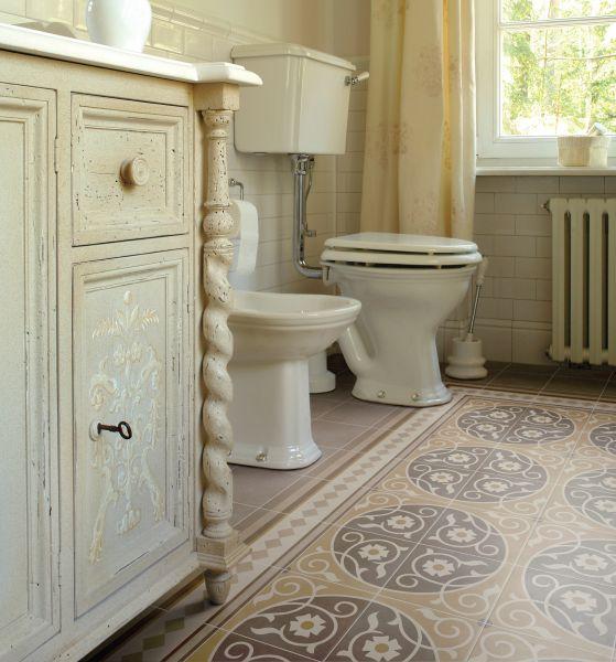 cr me 20x20 carrelage imitation carreaux de ciment gr s. Black Bedroom Furniture Sets. Home Design Ideas