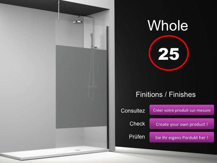 paroi de douche longueur 160 paroi de douche fixe 160 cm avec barre stabilisatrice au plafond. Black Bedroom Furniture Sets. Home Design Ideas