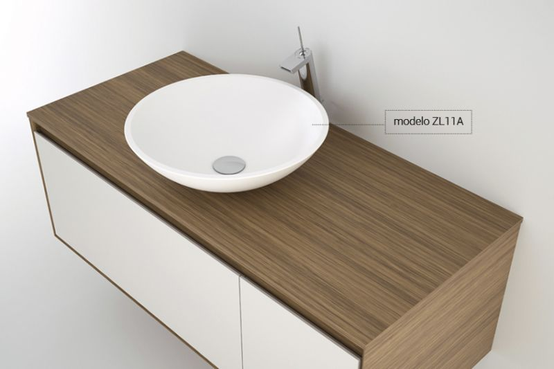 Vasques corian type vasque poser 370 cm en for Vasque en resine salle de bain