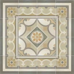 Carrelage sol et mur c ciment imitation paris 5e 20x20 - Gres cerame imitation carreaux ciment ...