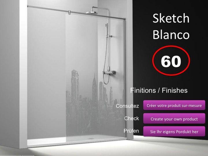 paroi de douche longueur 90 paroi de douche fixe 90 cm avec barre stabilisatrice de mur mur. Black Bedroom Furniture Sets. Home Design Ideas