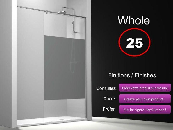 Paroi de douche longueur 120 paroi de douche fixe 120 cm avec barre stabilisatrice de mur - Barre de douche 120 cm ...