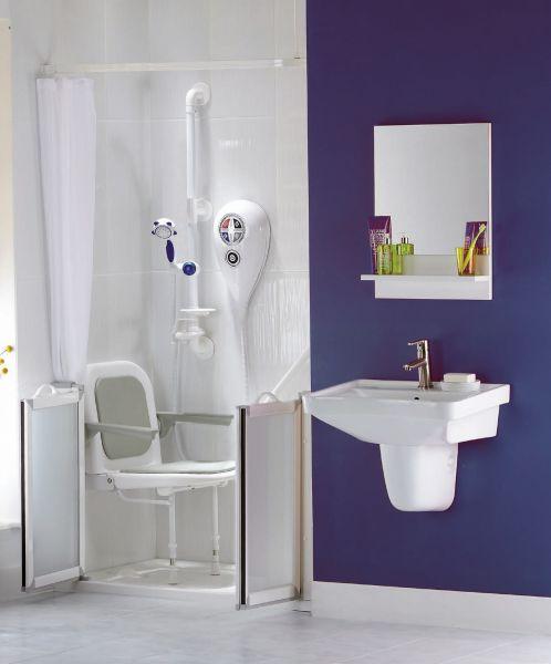 radiateur s che serviettes pmr accessoires si ge douche pmr rembourr avec dossier et. Black Bedroom Furniture Sets. Home Design Ideas