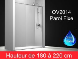 Paroi de douche largeur 150 cm 150x180 150x185 150x190 for Baignoire faible largeur