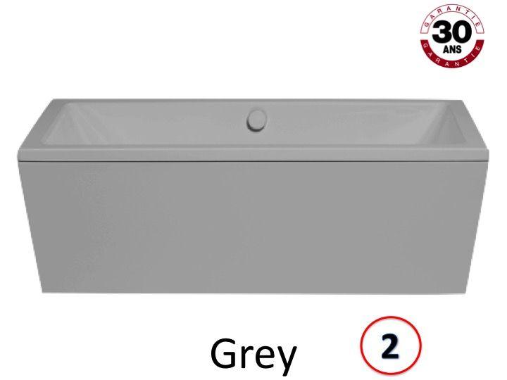 Radiateur s che serviettes baignoires baignoire 180 x for Baignoire ilot grise