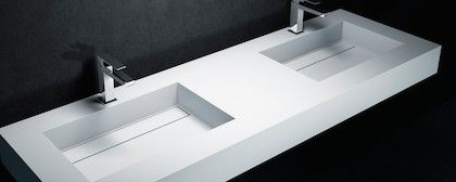 Vasques corian type vasque lavoir type corian r sine - Corian salle de bain ...