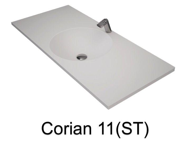 vasques largeur 120 vasque ronde type corian 120 x 50 cm en r sine solid surface zl11 blanc. Black Bedroom Furniture Sets. Home Design Ideas