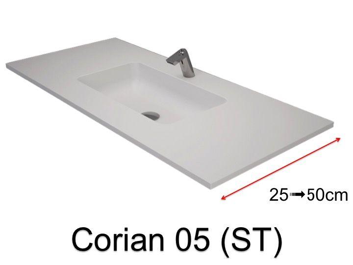 vasques largeur 90 vasque type corian 90 x 35 cm en r sine solid surface zl05 blanc st. Black Bedroom Furniture Sets. Home Design Ideas