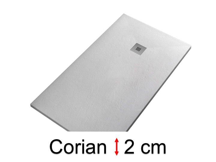 Receveurs de douches longueur 120 receveur de douche type corian 120 cm en r sine solid - Receveur douche corian ...