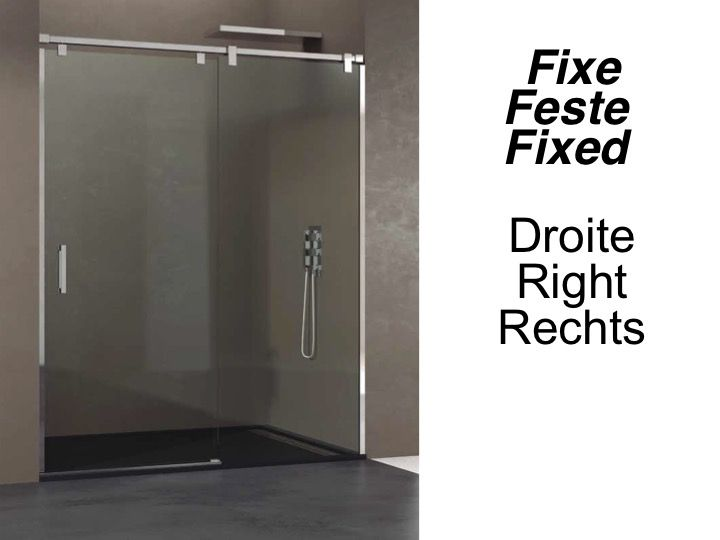 paroi de douche accessoires longueur 95 180 cm porte de douche coulissante avec fixe hauteur. Black Bedroom Furniture Sets. Home Design Ideas