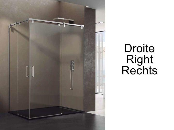 Paroi de douche accessoires largeur 80 longueur 80 120 - Porte de douche 120 ...