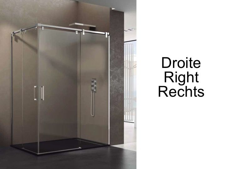 Paroi de douche accessoires largeur 90 longueur 90 120 cm porte de douche coulissante avec - Baignoire douche avec porte d acces ...