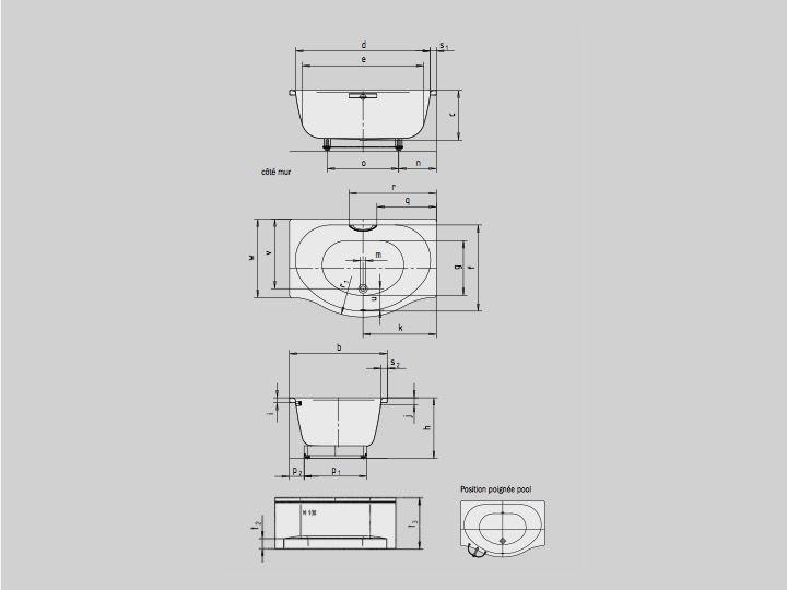 Radiateur s che serviettes baignoires baignoire 150 x1 for Baignoire profondeur 60 cm