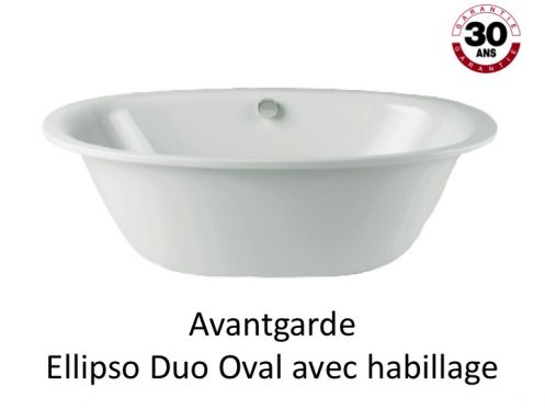 baignoire 190 x 100 cm en acier maill kaldewei avantgarde ellipso duo oval avec habillage. Black Bedroom Furniture Sets. Home Design Ideas