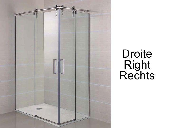 Paroi de douche accessoires largeur 70 longueur 70 140 cm porte de douche coulissante avec - Porte coulissante 140 cm ...