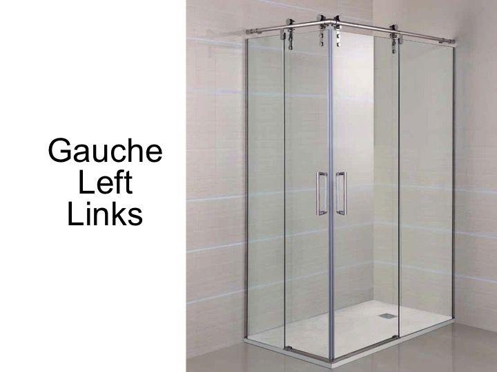 Paroi de douche accessoires largeur 70 longueur 70 140 for Porte 70 cm de large