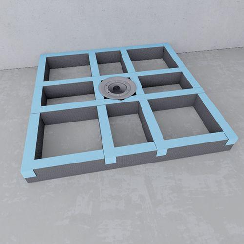 receveurs de douches a carreler wedi rehausse pour receveur de douche carreler wedi fundo. Black Bedroom Furniture Sets. Home Design Ideas