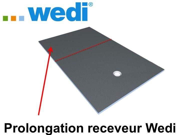 Receveurs de douches a carreler wedi prolongation for Bac de douche wedi