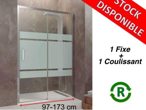 Paroi de douche accessoires longueur 97 173 cm porte de for Accessoire porte de douche coulissante