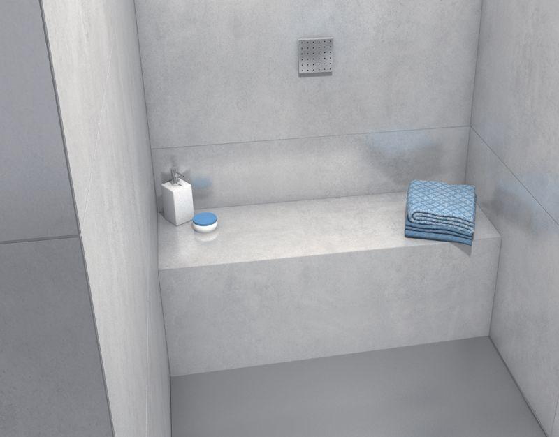 Receveurs de douches a carreler wedi banquettes wedi - Wedi salle de bain ...