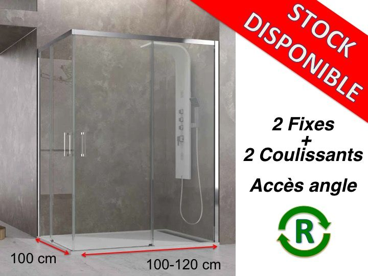 paroi de douche accessoires largeur 120 longueur 120 cm. Black Bedroom Furniture Sets. Home Design Ideas