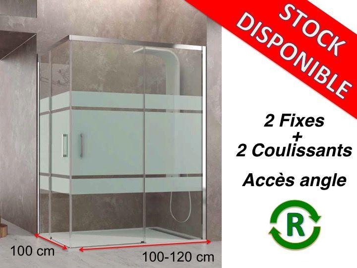 Porte de douche coulissante 100 cm maison design Porte de douche 100 cm