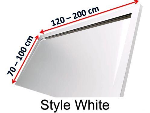 receveurs de douches longueur 120 receveur de douche 120 cm en r sine caniveau lat ral style. Black Bedroom Furniture Sets. Home Design Ideas