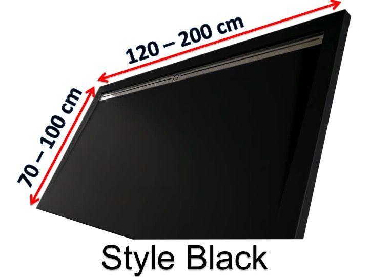 receveurs de douches longueur 130 receveur de douche 130 cm en r sine caniveau lat ral style. Black Bedroom Furniture Sets. Home Design Ideas