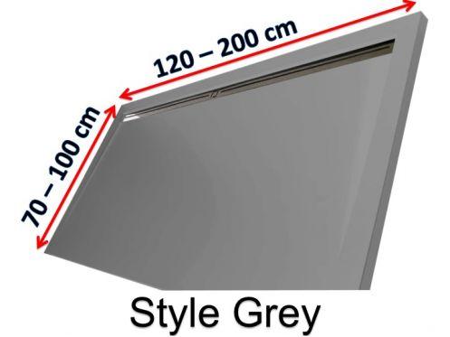 receveurs de douches longueur 180 receveur de douche 180 cm en r sine caniveau lat ral style. Black Bedroom Furniture Sets. Home Design Ideas